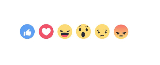 New Facebook Reaction Buttons 2016
